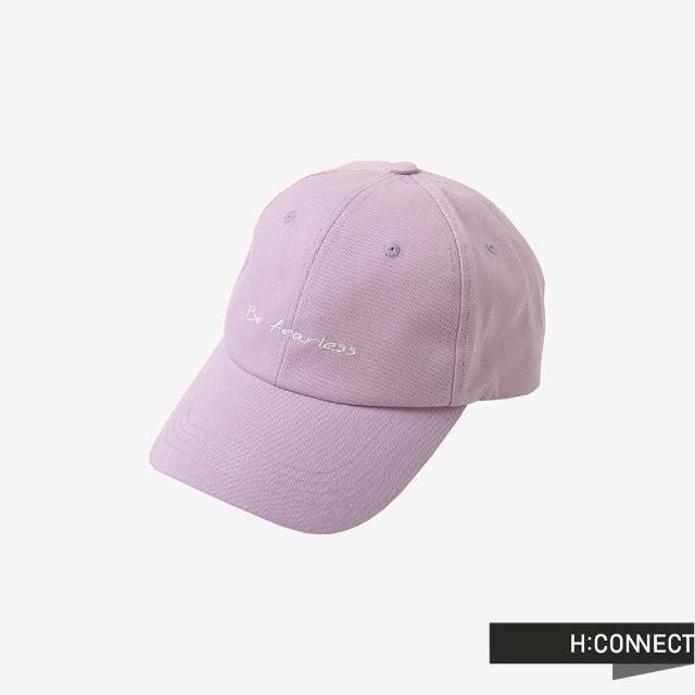 【H:CONNECT】韓國品牌 配飾-英文個性標語刺繡棒球帽(粉紫)
