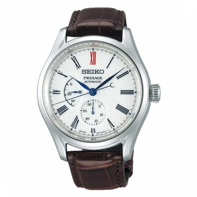 【SEIKO 精工】有田燒工藝機械腕錶/動力儲存顯示/41mm/白(SPB093J1)