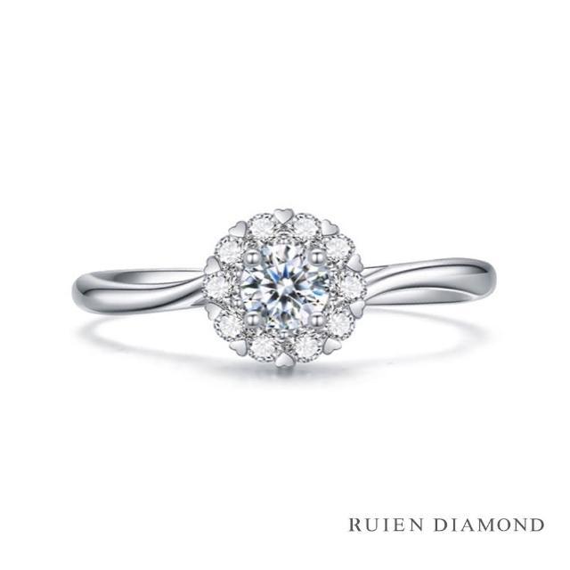 【RUIEN DIAMOND 瑞恩鑽石】真鑽10分 花火 群鑲 女款線戒(鑽石戒指 RUU227)