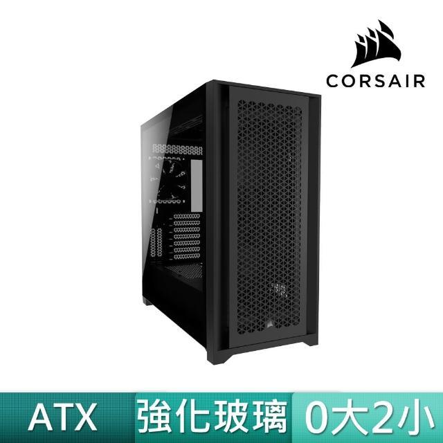 【CORSAIR 海盜船】5000D AIRFLOW 黑玻璃(贈 SP120 RGB ELITE風扇x3+控制器)