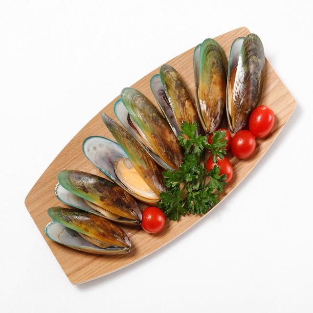 【華得水產】紐西蘭特級半殼淡菜4包(800g/包)