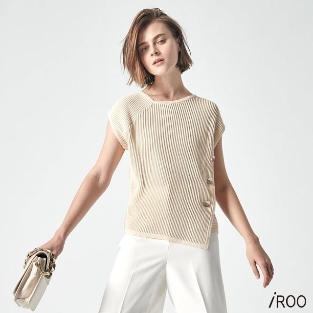【iROO】細條針織上衣