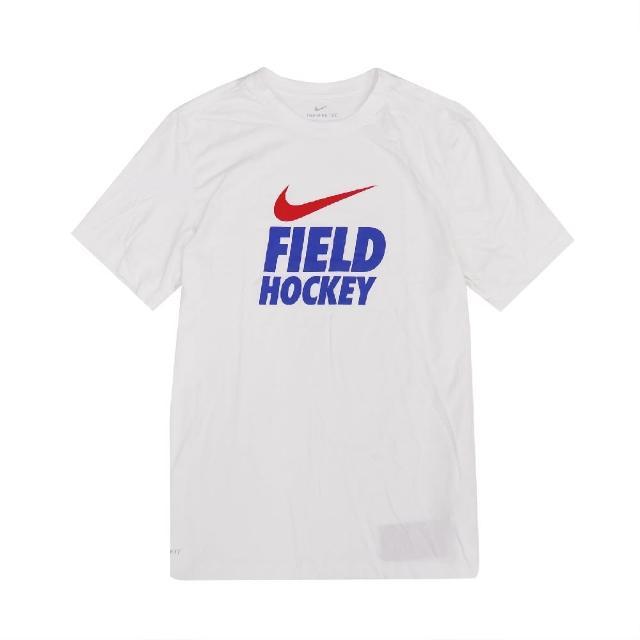【NIKE 耐吉】T恤 Field Hockey Tee 男款 DRI-FIT 吸濕排汗 快乾 圓領 白 藍(561416100F-HRR)