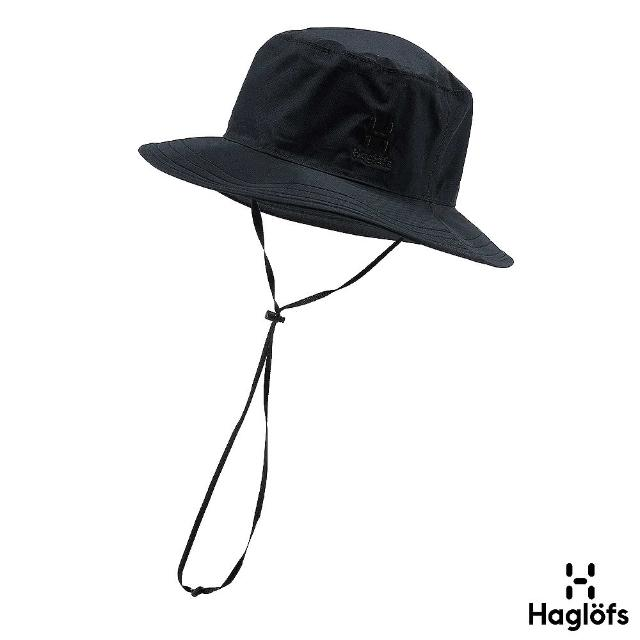 【Haglofs】透氣 防水漁夫帽(黑色)