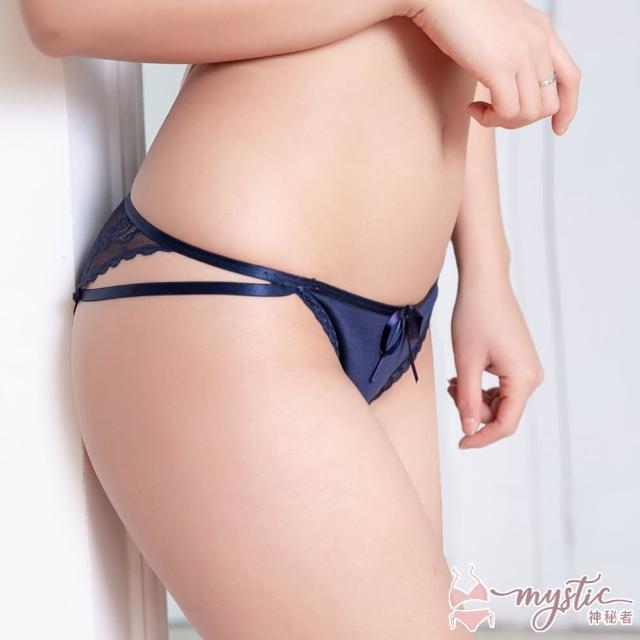 【mystic 神秘者】女內褲 三角 蕾絲性感低腰細帶三角內褲(超值5入組)