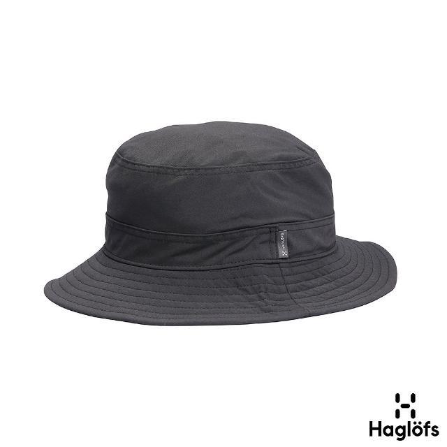 【Haglofs】Solar IV Hat 防潑水 透氣 遮陽漁夫帽(黑色)