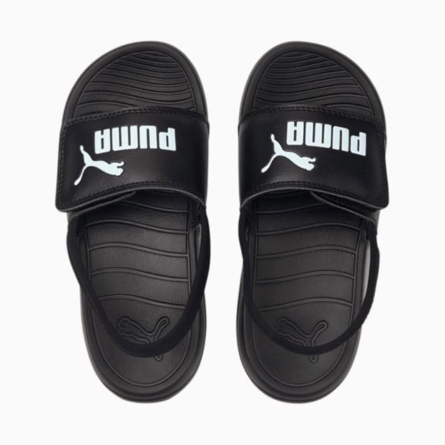 【PUMA】涼鞋 童鞋 中童 兒童 運動 POPCAT 20 BACKSTRAP AC PS 黑 38055501