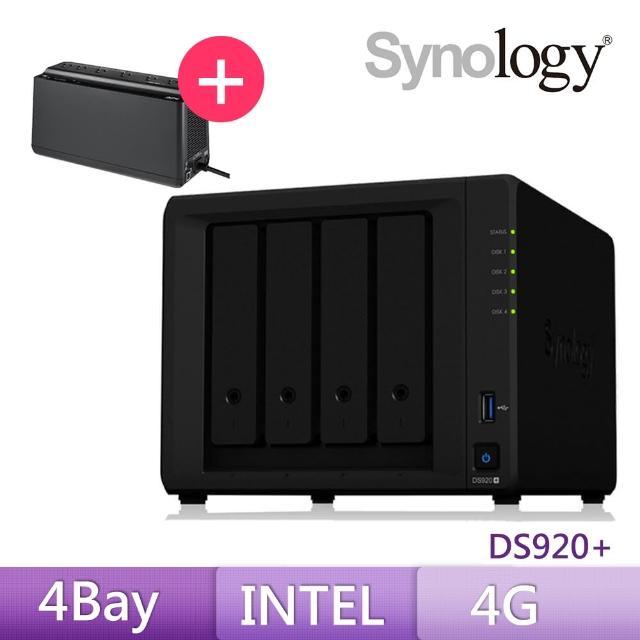 【搭APC 650VA離線式UPS】Synology 群暉科技 DS920+ 網路儲存伺服器