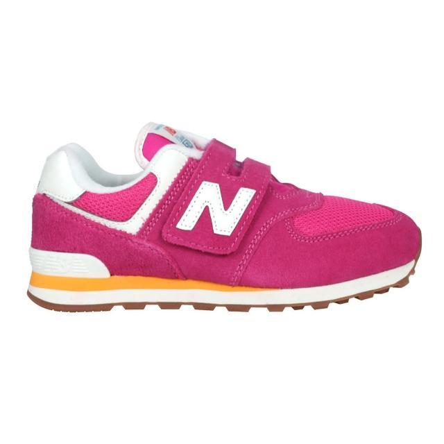 【NEW BALANCE】NB 運動鞋 童鞋 中童鞋 兒童 魔鬼氈 運動 桃(PV574HP2)