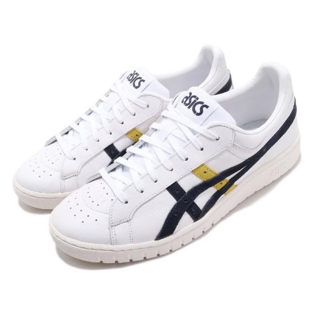 【asics 亞瑟士】休閒鞋 Gel-PTG 復古 男女鞋 亞瑟士 皮革鞋面 基本款 穿搭推薦 白 藍(1193A162101)