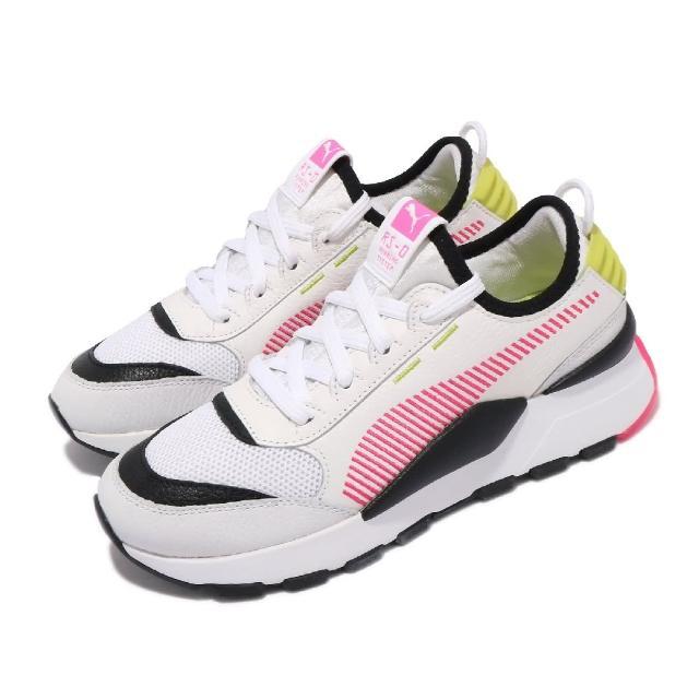 【PUMA】休閒鞋 RS-0 Rein 復古 襪套式 女鞋 海外限定 撞色 穿搭推薦 透氣網布 白 粉(37182804)
