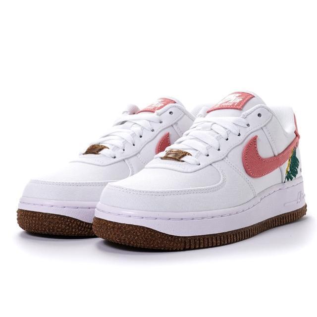 【NIKE 耐吉】WMNS AIR FORCE 1 07 SE 女款 電繡植物 休閒鞋 帆布 AF1(CZ0269-101)