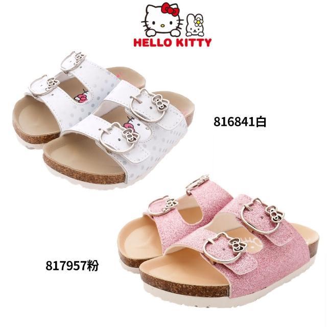 【HELLO KITTY】凱蒂貓扣飾休閒涼拖鞋(816841-817957-19-23cm)
