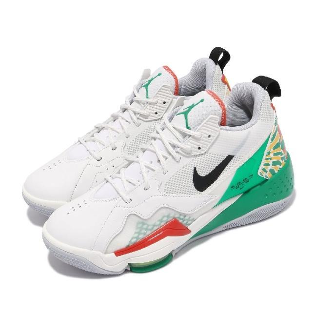 【NIKE 耐吉】籃球鞋 Jordan Zoom 92 男鞋 海外限定 喬丹 氣墊 舒適 避震 白 綠(CK9183-103)
