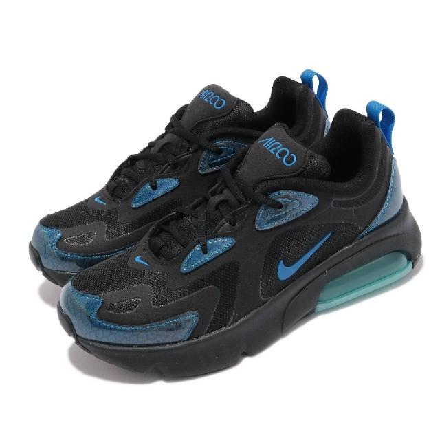 【NIKE 耐吉】休閒鞋 Air Max 200 運動 女鞋 海外限定 氣墊 舒適 避震 球鞋 穿搭 黑 藍(CQ4009-001)