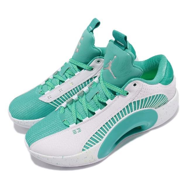 【NIKE 耐吉】籃球鞋 Air Jordan XXXV 男鞋 喬丹 避震 包覆 明星款 球鞋 運動 綠 白(DJ2994-100)