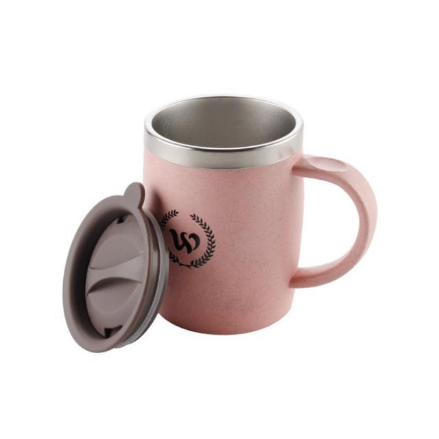 【PUSH!】辦公室保溫咖啡杯冷泡茶杯沖泡杯304不銹鋼保溫杯帶蓋420ML E102