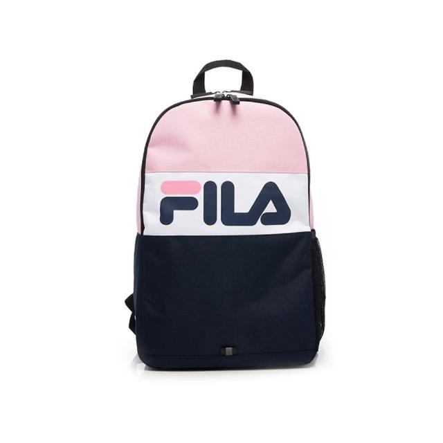【FILA】後背包 撞色拼接LOGO後背包-粉(BPV-5502-PK)