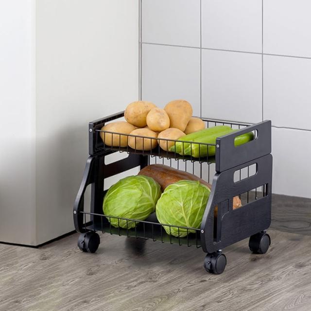 【HappyLife】可移動廚房收納車 一層 可拆用 Y10166(收納架 瓶罐收納 收納車 附輪收納車 置物架 廚房收納)