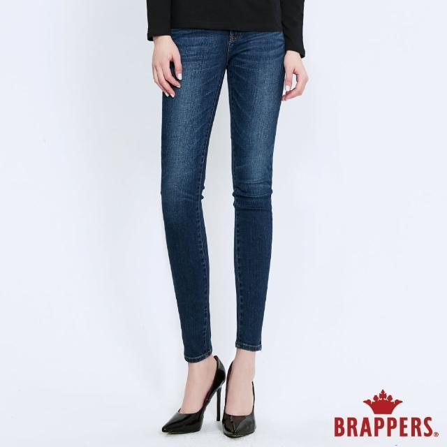 【BRAPPERS】女款 新美腳鬆緊帶系列-低腰彈性窄管褲(藍)