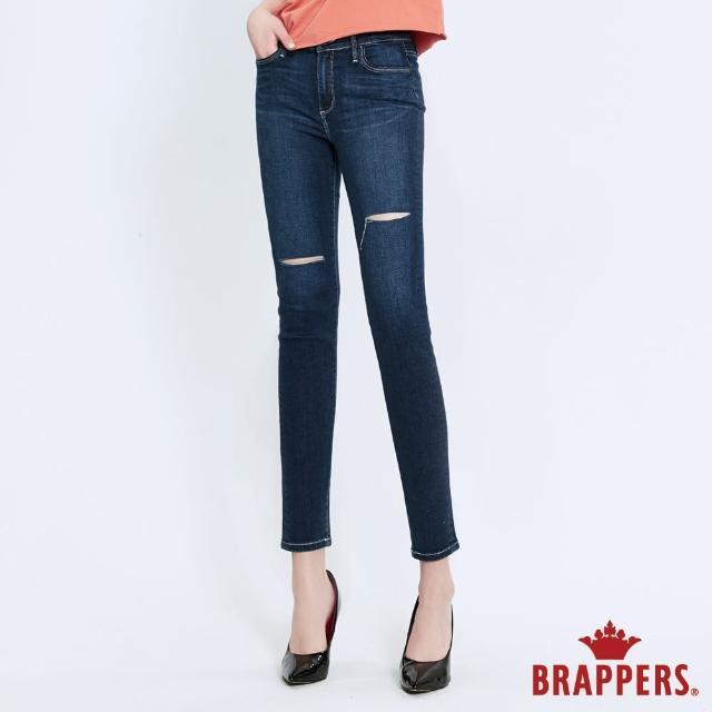 【BRAPPERS】女款 新美腳Royal系列-中腰彈性九分褲(深藍)