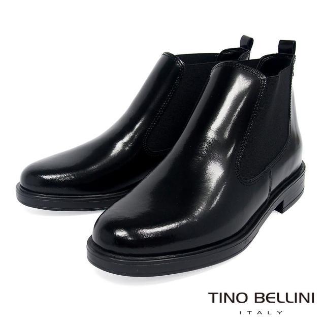 【TINO BELLINI 貝里尼】義大利進口英倫切爾西短靴VI8505(黑)