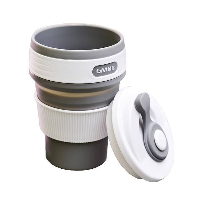 【PUSH!】戶外休閒用品折疊杯子旅行杯子便攜咖啡杯冷泡茶杯隨手杯350ML E105