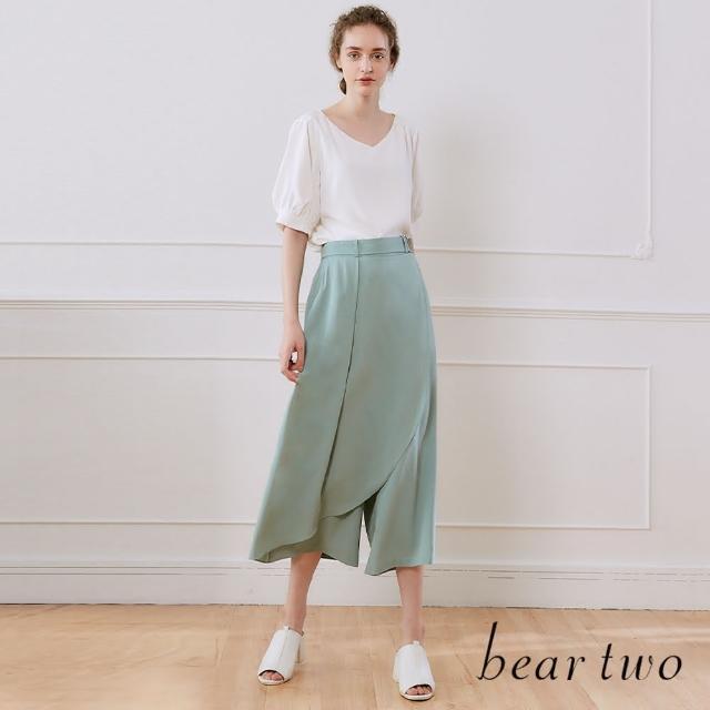 【bear two】一片裙造型長褲裙(兩色)