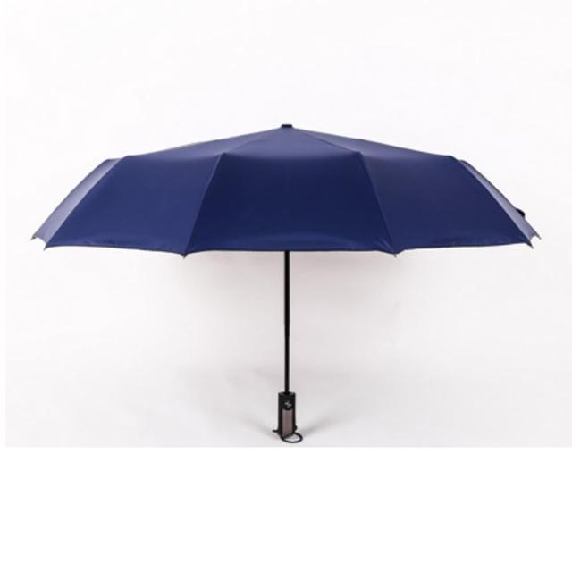 【PUSH!】居家生活用品一鍵開收全自動傘兩用晴雨傘十骨折疊超大雙人傘(I84)