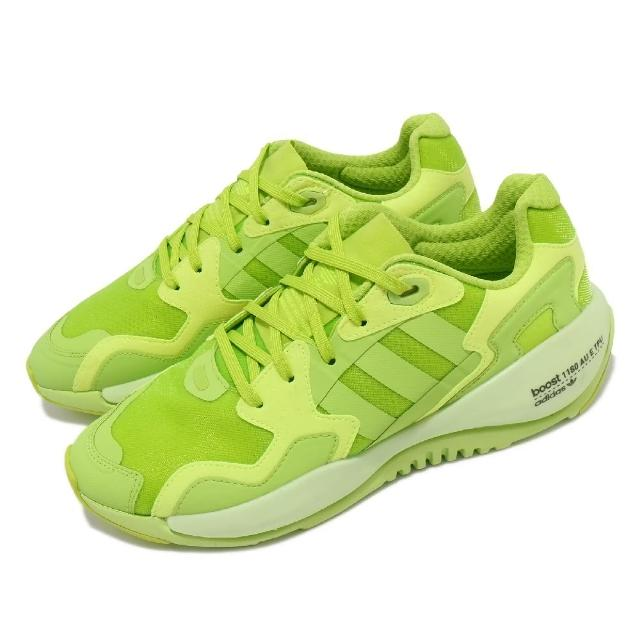 【adidas 愛迪達】休閒鞋 ZX Alkyne 運動 男鞋 愛迪達 輕量 透氣 舒適 避震 穿搭 綠 黃(FZ4037)
