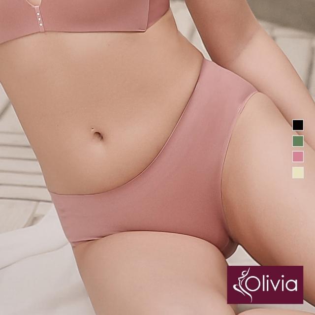 【Olivia 奧莉葳】舒冉系列-洋桔梗 無痕透氣零著感中腰三角褲-岩石紅