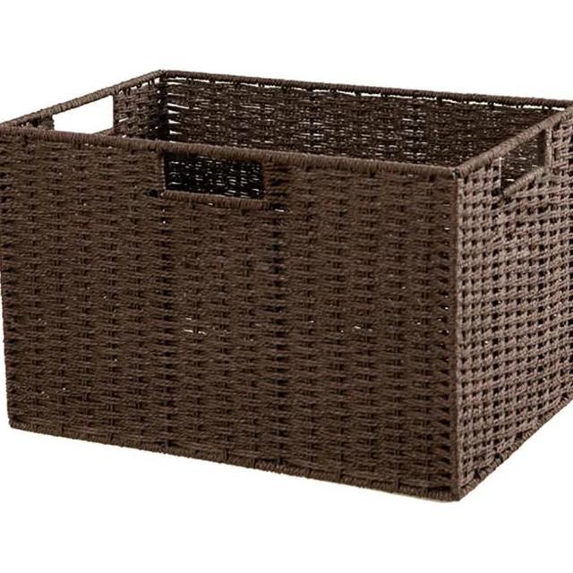 【NITORI 宜得利家居】編織收納籃 LAIRA3 標準型 DBR(收納籃 收納盒 整理盒)
