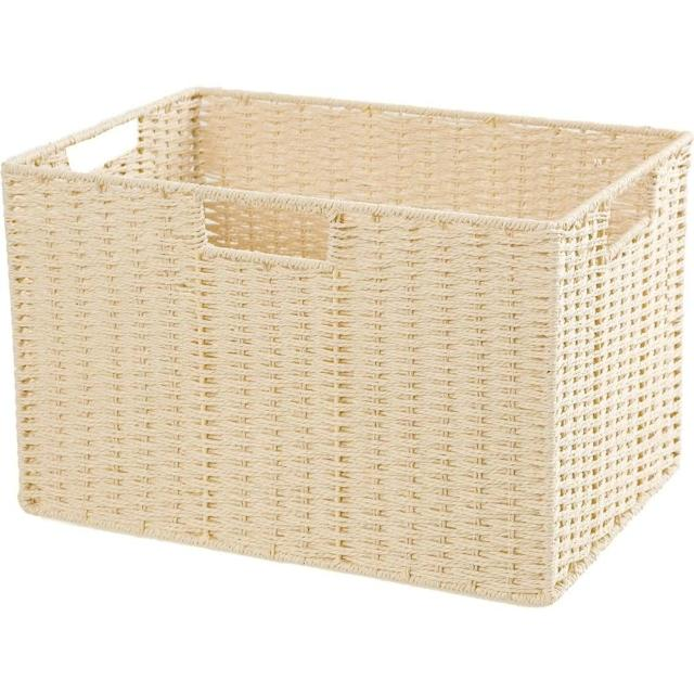 【NITORI 宜得利家居】編織收納籃 LAIRA3 標準型 NA(收納籃 收納盒 整理盒)