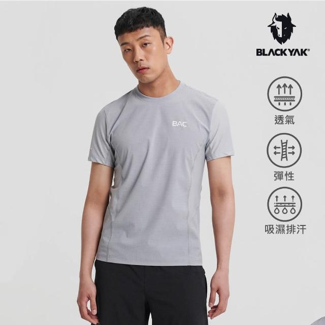 【BLACK YAK】男 BAC SURAK吸排短袖上衣[淺灰]BYAB1MC503(韓國春夏 短袖 男上衣)