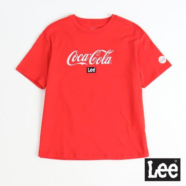 【Lee】Lee X COCA COLA 聯名 女短袖T恤-可樂紅