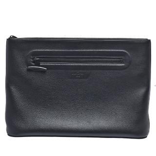 【Louis Vuitton 路易威登】經典小牛皮拉鍊手拿包(黑色)