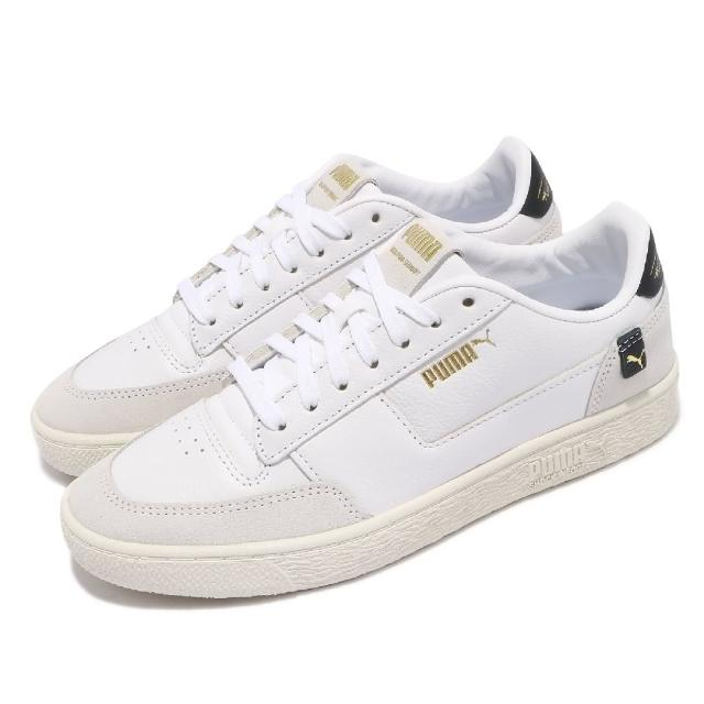【PUMA】休閒鞋 Ralph Sampson 女鞋 海外限定 皮革鞋面 穿搭 金標 白 灰(37481502)