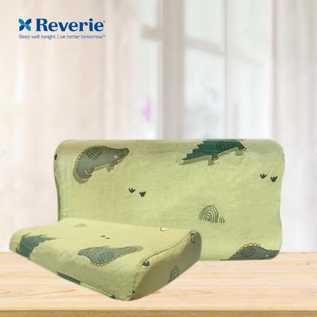 【Reverie 幻知曲】兒童工學乳膠枕-卡通恐龍(適合7歲以上孩童 / 40支純棉布套)