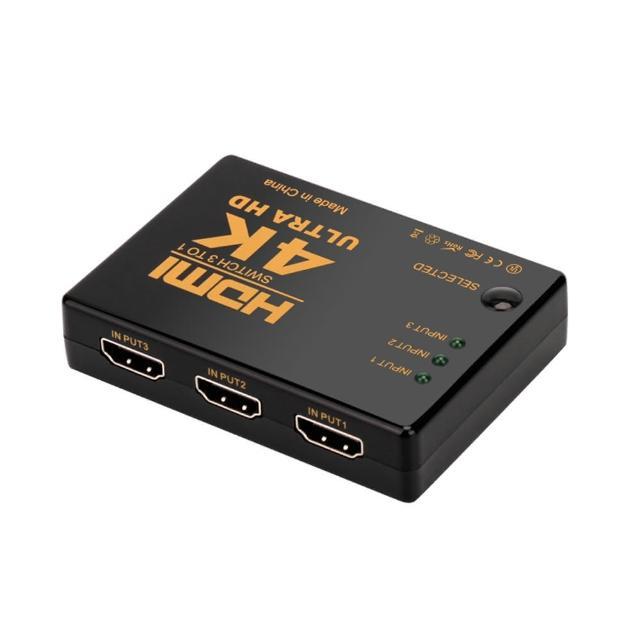 4K2K 高畫質HDMI 3進一出切換器 螢幕切換 機上盒切換