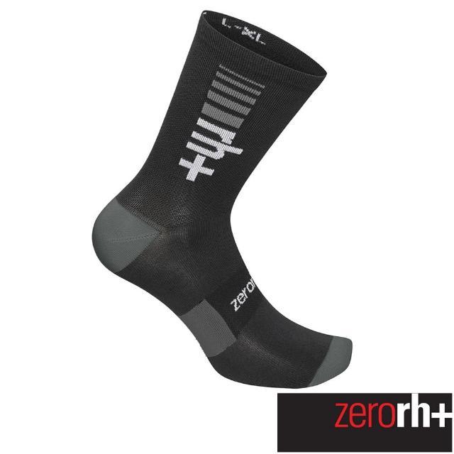 【ZeroRH+】義大利專業中筒單車運動襪(黑色 ECX9164_906)