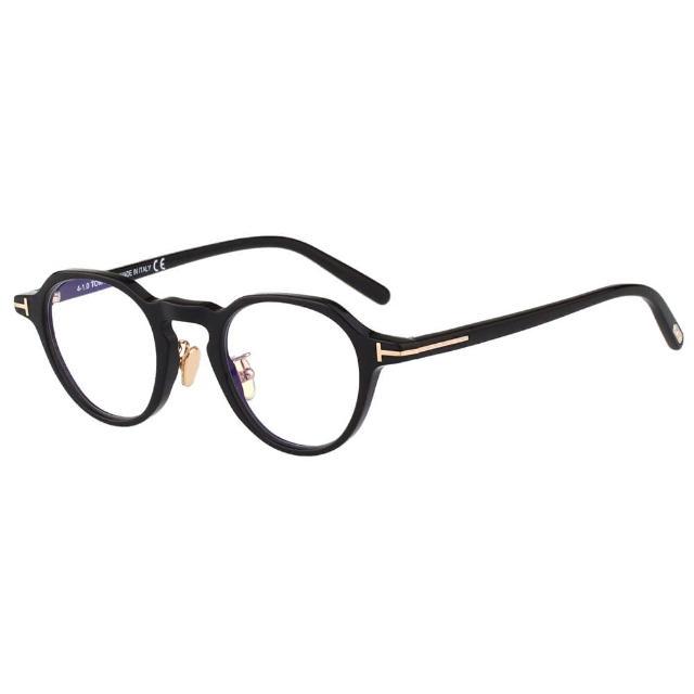 【TOM FORD】抗藍光 復古 光學眼鏡(黑色)