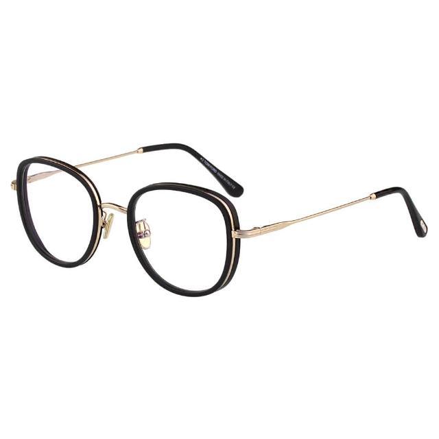 【TOM FORD】抗藍光 光學眼鏡(黑配金)