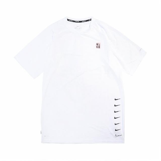 【NIKE 耐吉】T恤 Multi Swoosh Top 圓領 男款 防曬 運動休閒 基本款 穿搭推薦 白 黑(NESSB653-100)