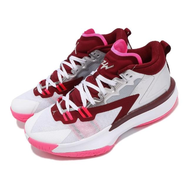 【NIKE 耐吉】籃球鞋 Jordan Zion 1 PF 運動 男鞋 喬丹 明星款 避震 包覆 支撐 球鞋 銀 粉(DA3129-100)