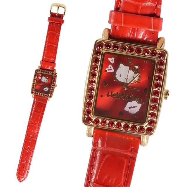 【TDL】HELLO KITTY凱蒂貓施華洛世奇鑽手錶情人禮物 806111