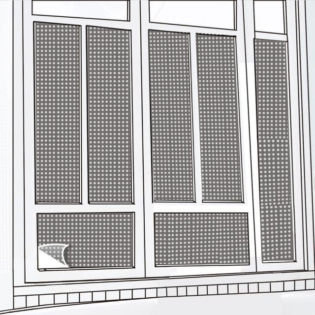 【CARBUFF】DIY居家玻璃靜電貼/黑+銀 60x300cm MH-4040