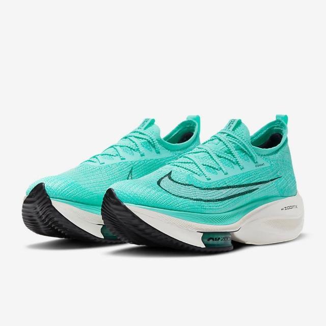 【NIKE 耐吉】慢跑鞋 W Air Zoom Alphafly Next% 女鞋 綠藍 氣墊 舒適 避震 路跑 馬拉松(CZ1514-300)
