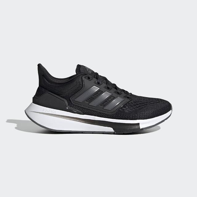 【adidas 愛迪達】慢跑鞋 女鞋 運動鞋 緩震 訓練 EQ21 RUN 黑 H00544