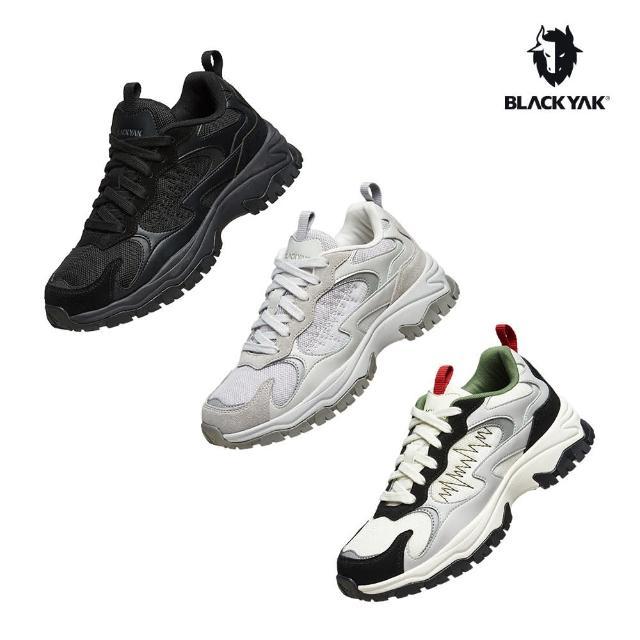 【BLACK YAK】WALES戶外運動鞋[黑色/白色/灰色]BYJB2NFD0(韓國 休閒鞋 老爹鞋 中性款)