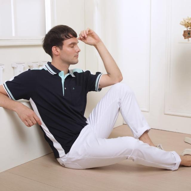 【PAUL SAILING】運動風條紋快乾棉排汗短袖POLO衫(三色)